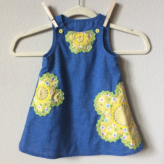 vintage applique dress