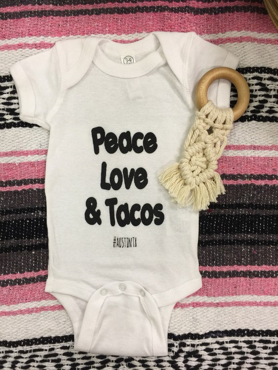 peace love and tacos bodysuit