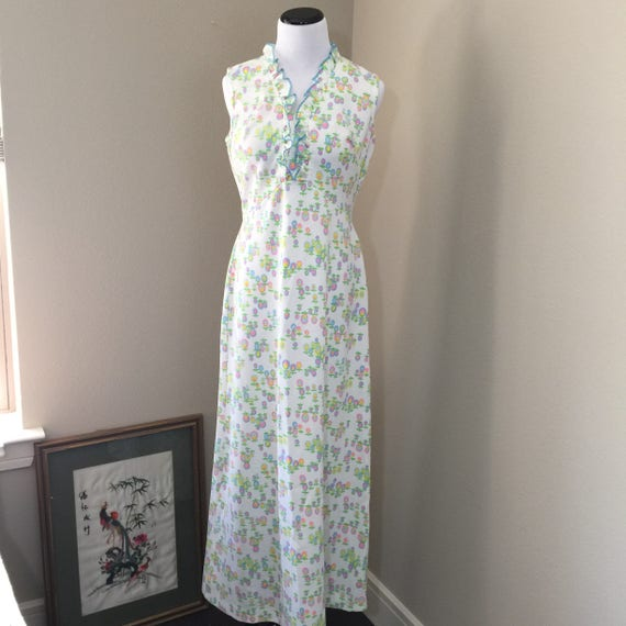 vintage 1960's maxi dress