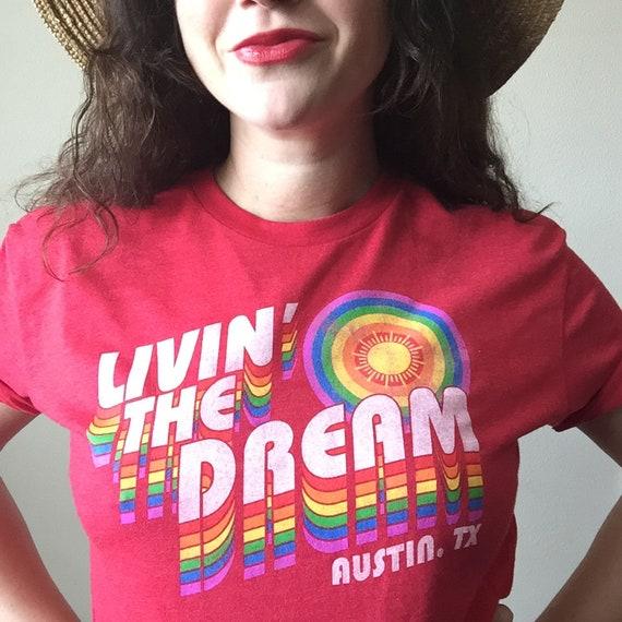 Livin' the Dream tee (Pride Socks)