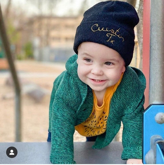 custom kids beanie