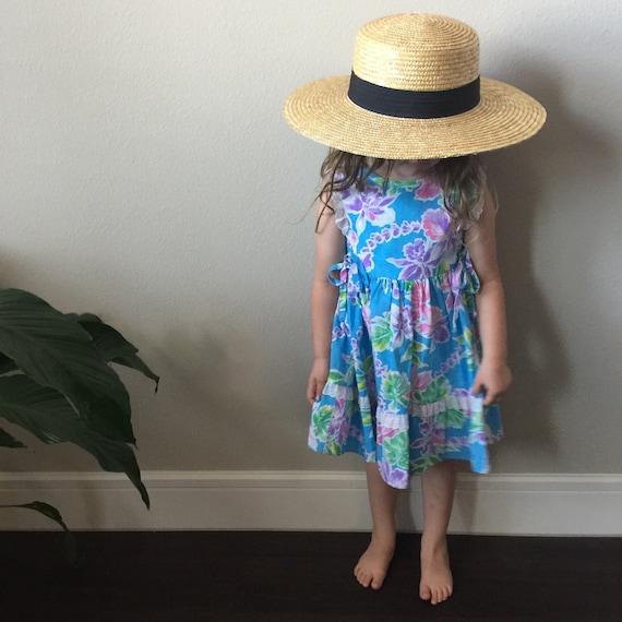 vintage Hawaiian toddler dress