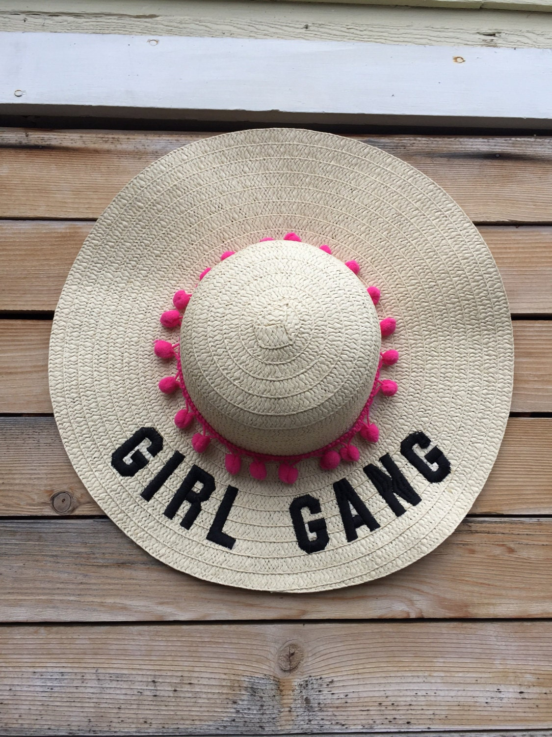 floppy hat embroidered - floppy beach hat - girl gang hat - mom gift ... 1027e64ed36