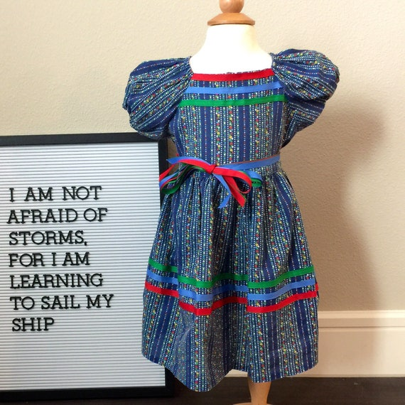 toddler vintage stripe dress