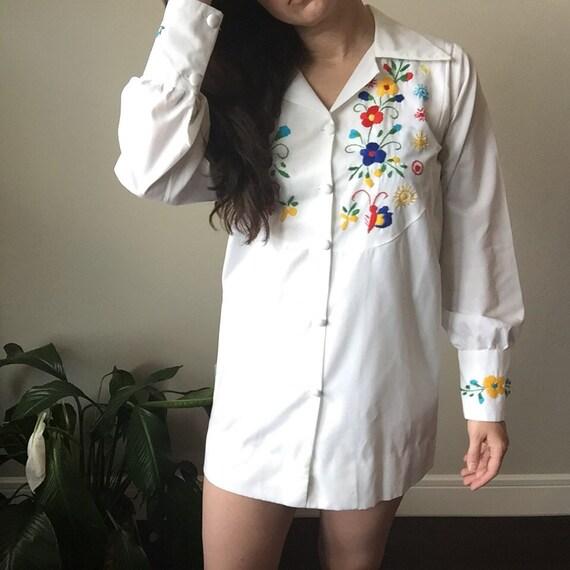vintage embroidered mini dress