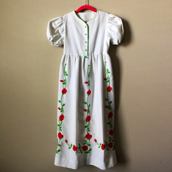 vintage little girls maxi