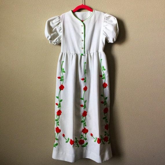 vintage little girls maxi
