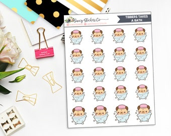 Tibbers Takes a Bath | Pug Bath Planner stickers