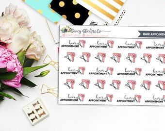 Hair Appointment Planner Stickers   for use with Erin Condren Lifeplanner™, Filofax, Personal, A5, Happy Planner