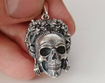 Frida Kahlo necklace Frida Kahlo jewelry Frida Kahlo pendant Frida Kahlo ring Mexican jewelry Skull jewelry Horror