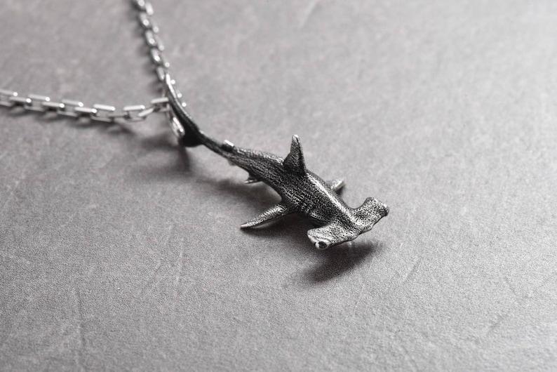 8034d1a7da1cf Hammer fish Hammer head Hammerhead Shark jewelry Silver shark Shark  necklace Ocean jewelry Sea necklace