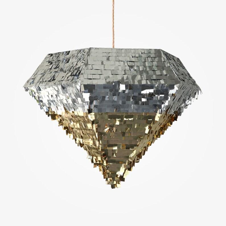 Extra Large Diamond Piñata Gold & Silver image 0