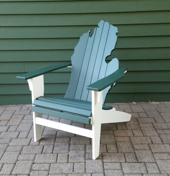 Poly Lumber Michigan State University Adirondack Chair Etsy