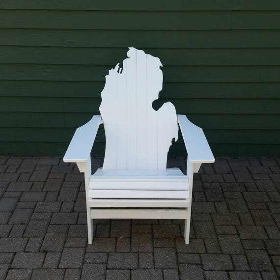 Groovy Michigan Adirondack Chair White Poly Lumber Bralicious Painted Fabric Chair Ideas Braliciousco