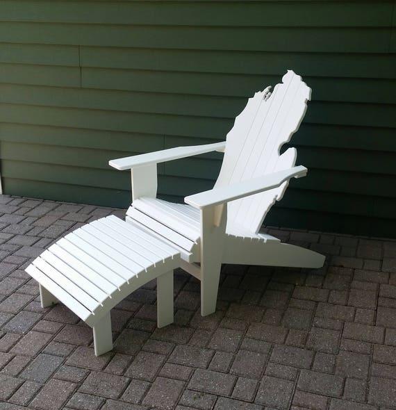 Peachy Michigan Adirondack Chair White Poly Lumber Bralicious Painted Fabric Chair Ideas Braliciousco