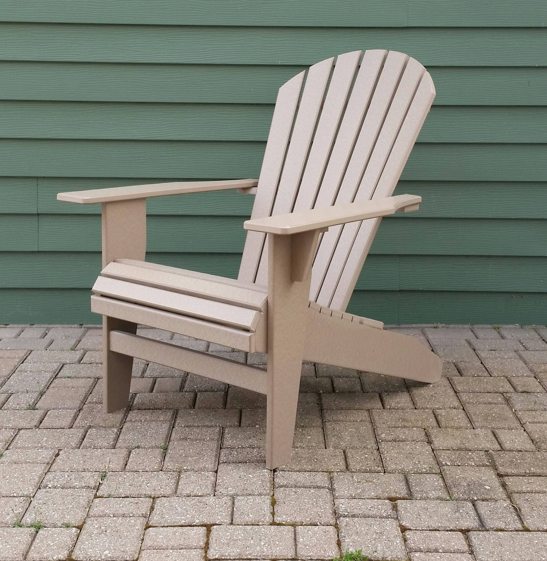 Chaise adirondack de poly bois coquillage etsy - Chaise adirondack france ...