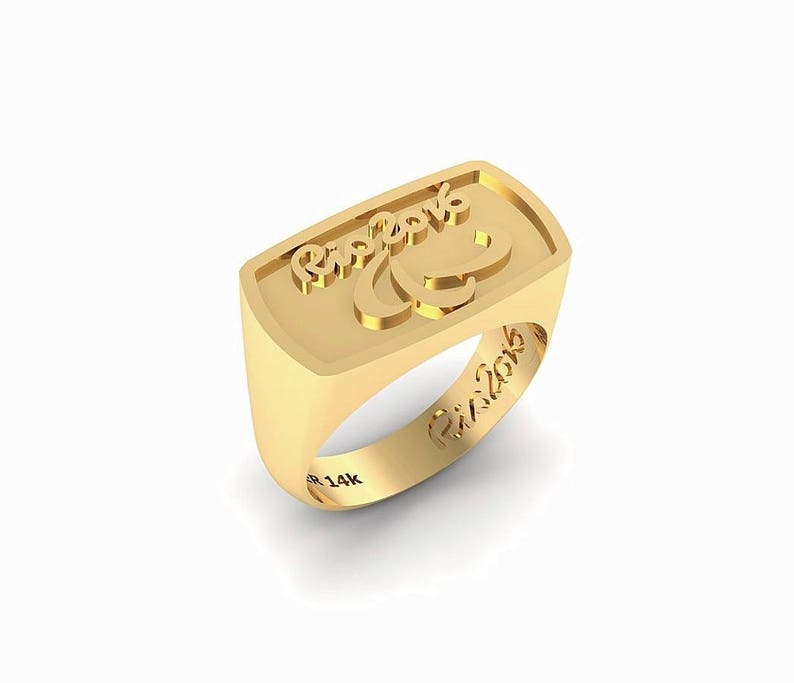 99d34398eb54f custom oreder, Olympic and Paralympics rings Ring 14k Yellow gold.olympic  rings Signet Ring 14k Yellow gold