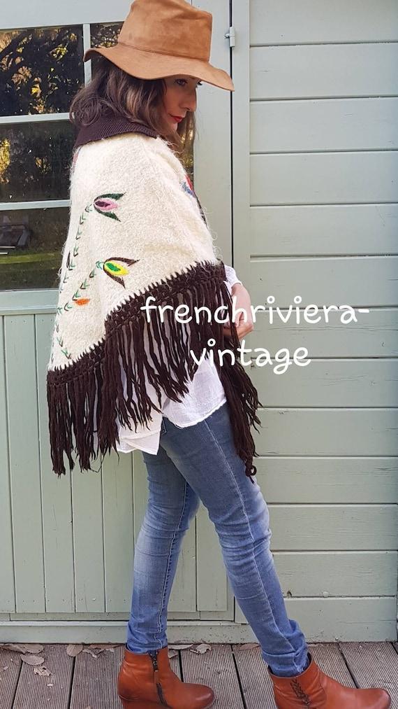 Poncho of the 60s vintage poncho poncho handmade … - image 9