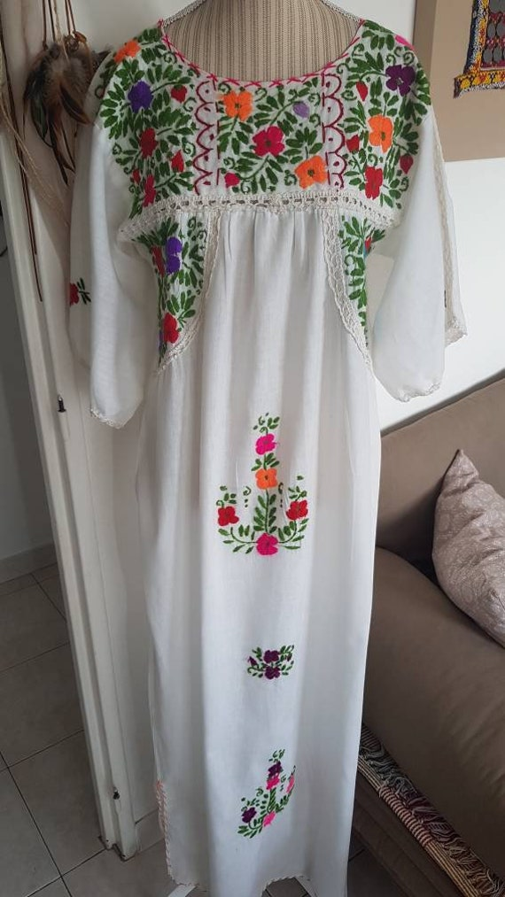 Robe longue bohème voile de coton robe bohème brod