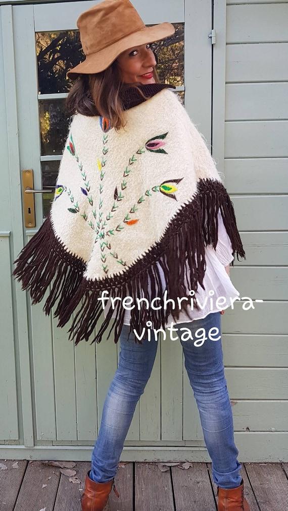 Poncho of the 60s vintage poncho poncho handmade p