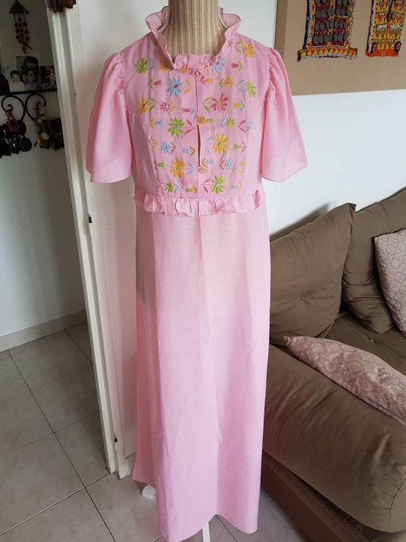 Nightgown woman pink shirt night gown of midnight