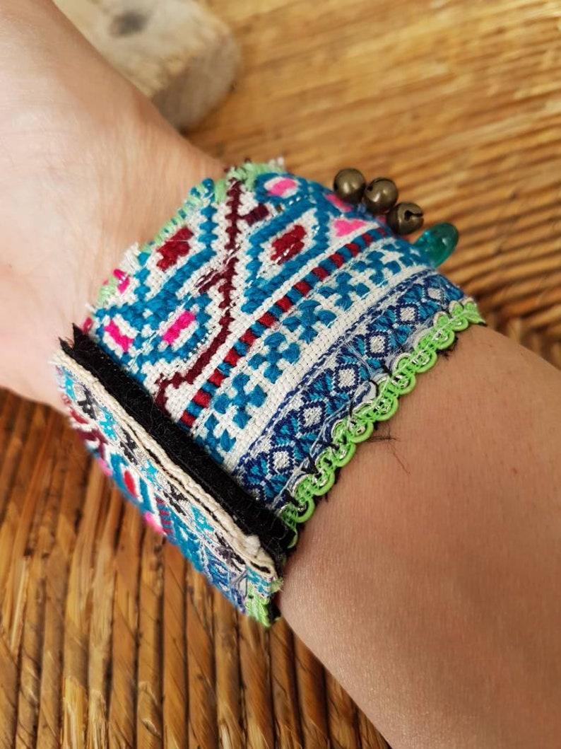 Handmade cuff bracelet doll bracelet boho bracelet boho bracelet beaded bracelet bracelet cute vintage fabric