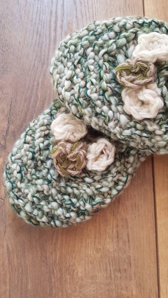 Slippers wool slippers vintage wool slippers hand… - image 7