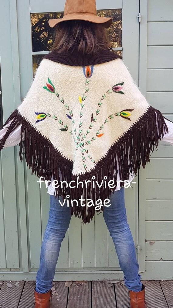 Poncho of the 60s vintage poncho poncho handmade … - image 7
