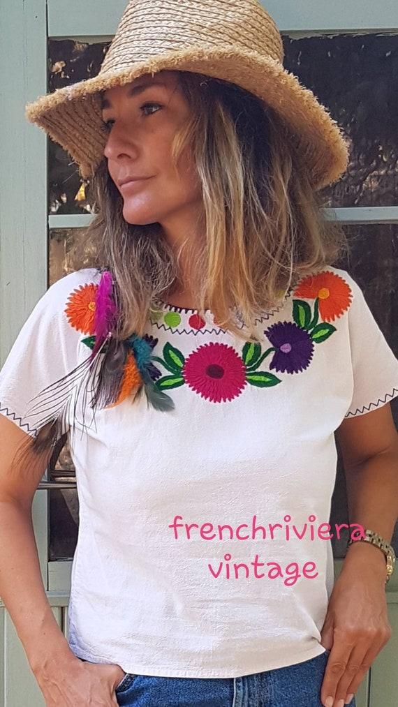 Blouse boho chic hippie style blouse cotton blouse