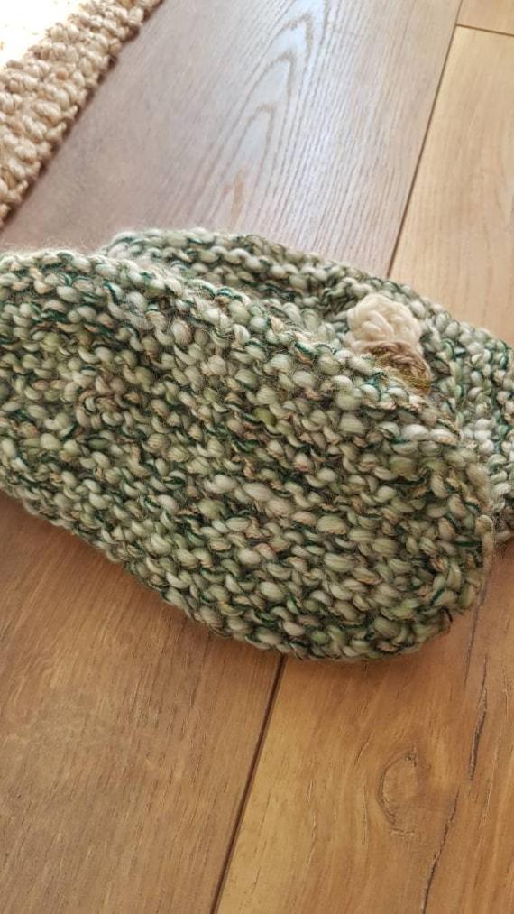 Slippers wool slippers vintage wool slippers hand… - image 8