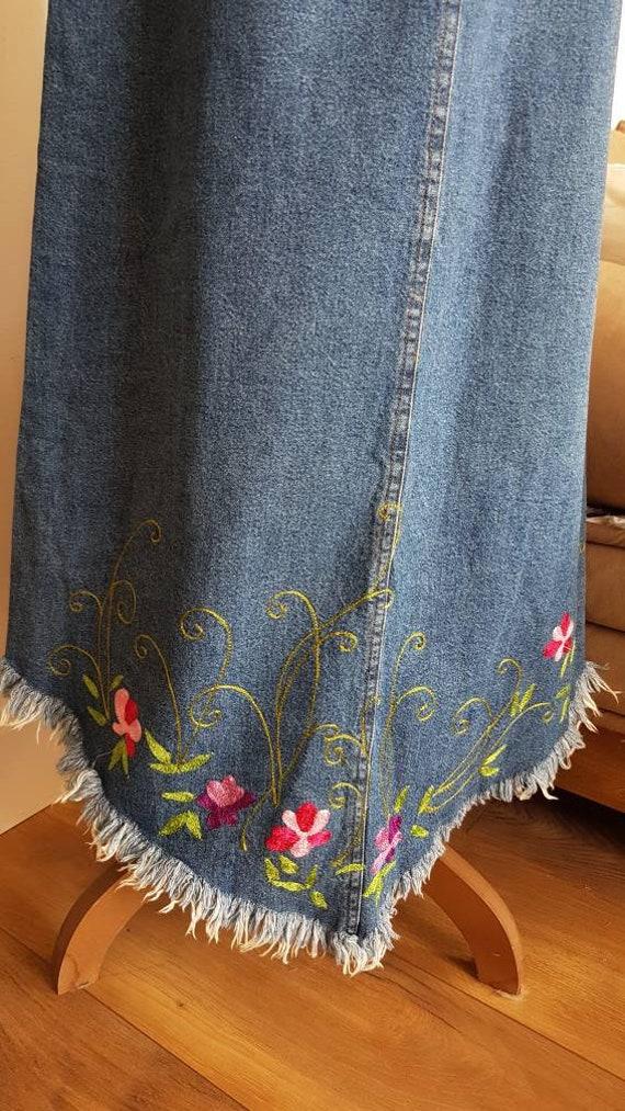 Long skirt boho long skirt jeans skirt jeans skir… - image 10