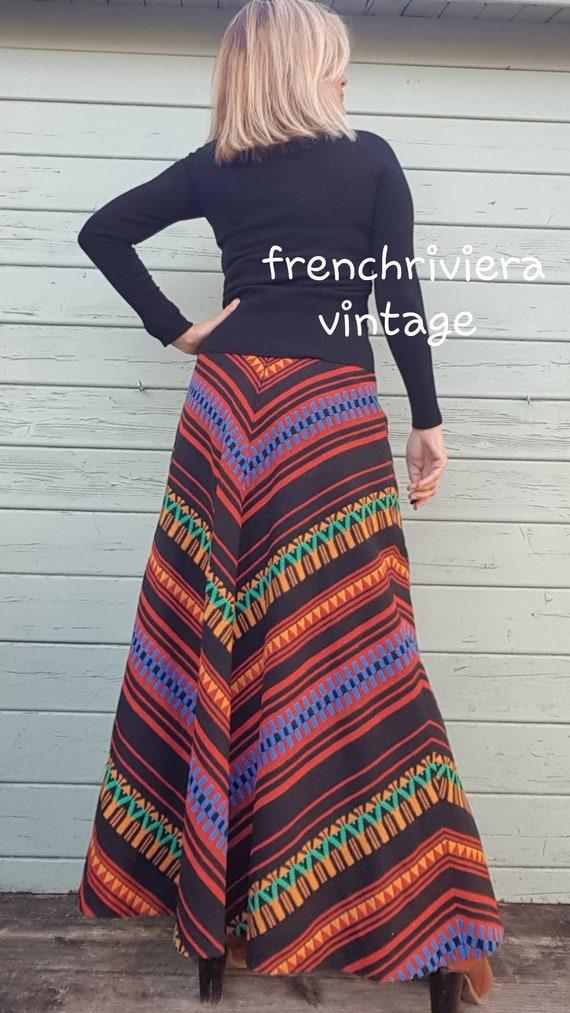 Long boho skirt wool skirt long style hippie long