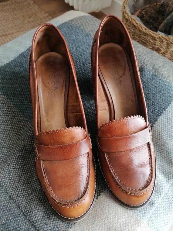 Moccasins brown leather moccasin heels moccasins m