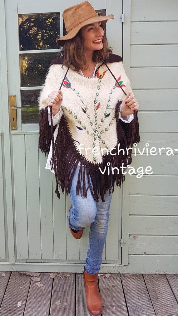 Poncho of the 60s vintage poncho poncho handmade … - image 2