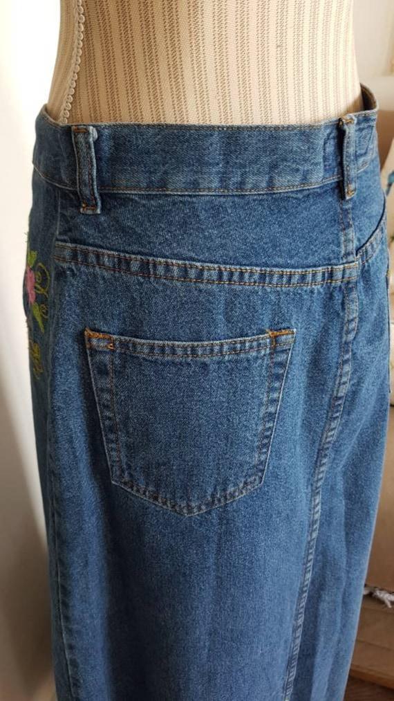 Long skirt boho long skirt jeans skirt jeans skir… - image 6