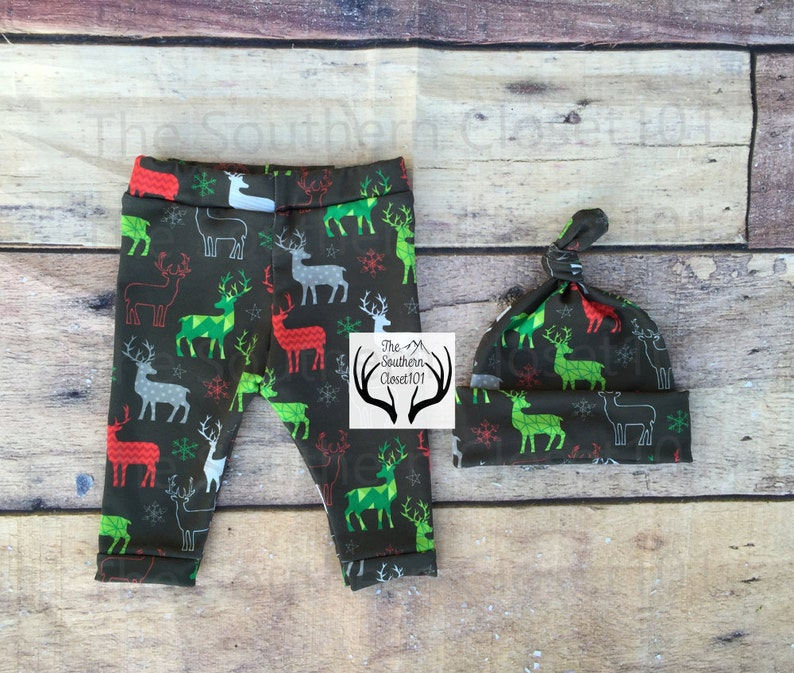Boy Coming Home Outfit,Reindeer,Red,Green,Gray,White,Boys Country Outfits Boys Christmas Outfit,My First Christmas,Boys Deer Outfit,Newborn