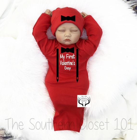 Baby Boys Valentine S Day Gown My First Valentine S Etsy