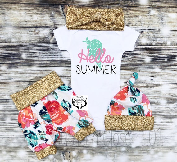5fa98a4c5 Girls Summer OutfitNewborn Girl Coming Home OutfitGirls