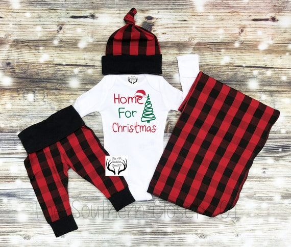 image 0 - Baby Boys Christmas OutfitChristmasNewborn Boy Coming Home Etsy
