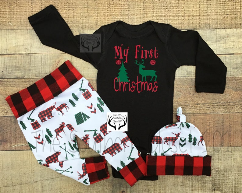 2c0d8f7b4 Baby First Christmas Outfit boyBaby Boy Coming Home