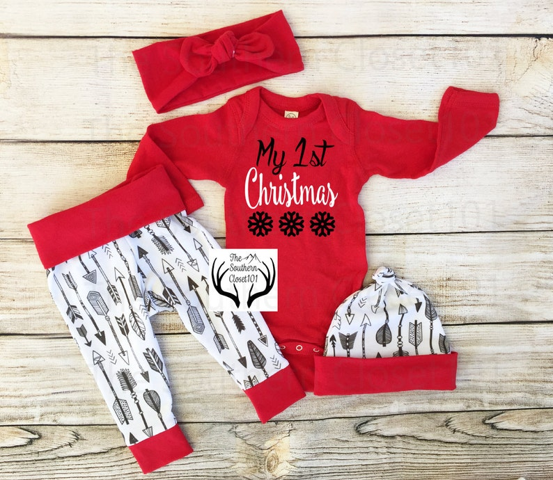 742899e4a Baby Christmas Outfit Unisex My 1st ChristmasBabies First