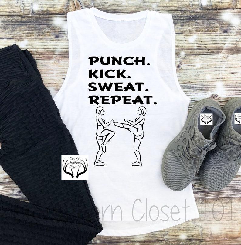 Kickboxing Tank top,Kickboxing,Gym Tank top,Womens Tank Top,Workout Shirts,Women/'s Shirt,Womens Sleeveless Shirts Womens Boxing Tank
