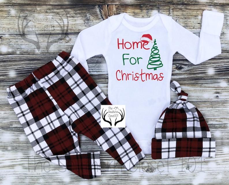 48c596dbd Baby Boys Plaid Christmas OutfitFirst ChristmasNewborn Boy | Etsy