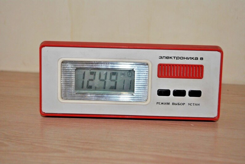 Vintage Collectible MAYAK USSR Shelf Crystal МАЯК Mantel Clock MAJAK