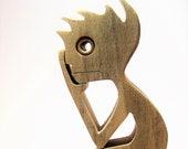 pensif sculpture bois chantournée