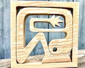 isolation 5 ; sculpture bois