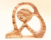 recroquevillé ; sculpture bois