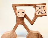 sculpture bois, fait scier...