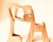 un homme un chien l'original par 2virgule5d ; sculpture bois chantourné