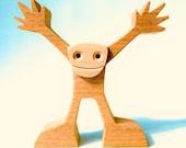 content de vous voir ; sculpture bois chantournée